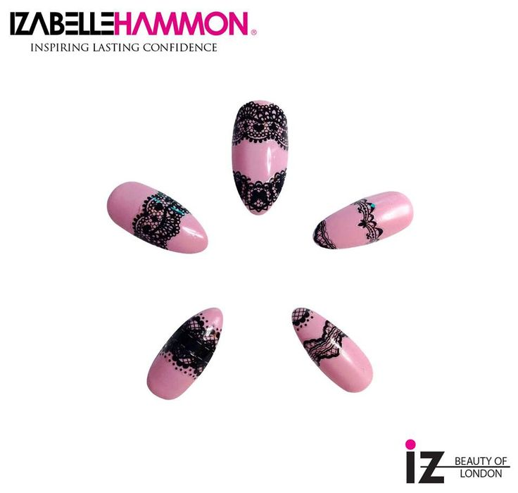 Lace Nails : iZ Beauty of London Deco iT nail decals (nails done by Nicola Hammon)