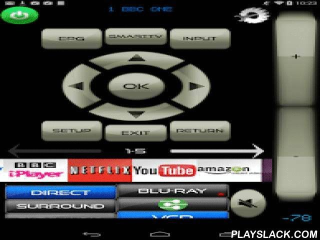"""Remote For LG 2013 TV/Blu-Ray  Android App - playslack.com ,  Unofficial WI-Fi & IR remote control for LG Televisions.""""LG"""" is a trademark of the LG Corporation. !!!!!!!!!!!!!!PLEASE NOTE!!!!!!!!!!!!!!!. MyAV CURRENTLY ONLY SUPPORTS 2013 MODELS FOR Wi-Fi CONTROL.... if you have an older LG smart TV and would like to help us make MyAV work with your set then please email us info@myav.co.ukFor Wi-Fi control your LG Smart TV/Blu-Ray must be connect to your router AND YOUR ROUTER MUST HAVE…"""