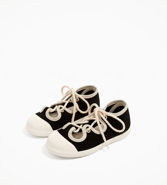 Image 6 of TRENDY LACED PLIMSOLLS from Zara