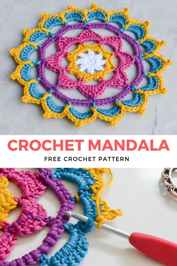 Stunning Crochet Mandala Free Pattern