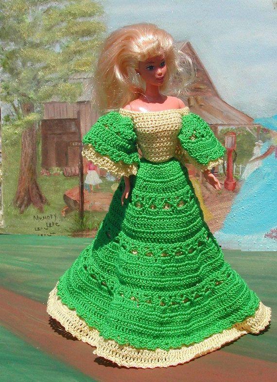 Crochet Fashion Doll Barbie Pattern 48 by JudysDollPatterns