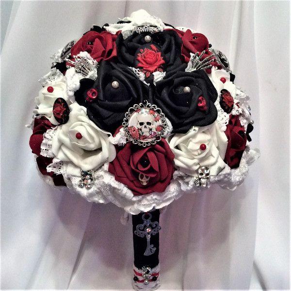 Свадебные, букет невесты для готической свадьбы