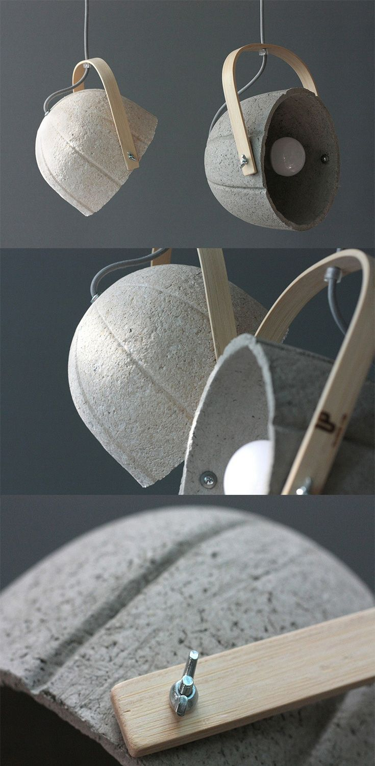 The 'Dome' is lamp which is actually a Paper-Concrete Composite, so it's paper based, yet sturdy, it comes with a classy bent bamboo strap that complements  the dome's rustic style... READ MORE at Yanko Design !