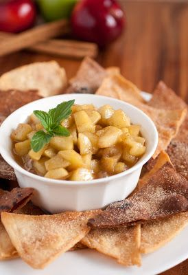 Apple Pie Dip with Cinnamon Sugar Apple Chips *granny smith, brown ...