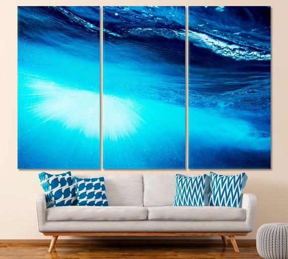 Blue Water Wall Art Ocean Canvas Print Sea Art Print Giclee Etsymktgtool Bluewaterwallart Oceancanvasprint S Ocean Canvas Coastal Wall Art Water Walls