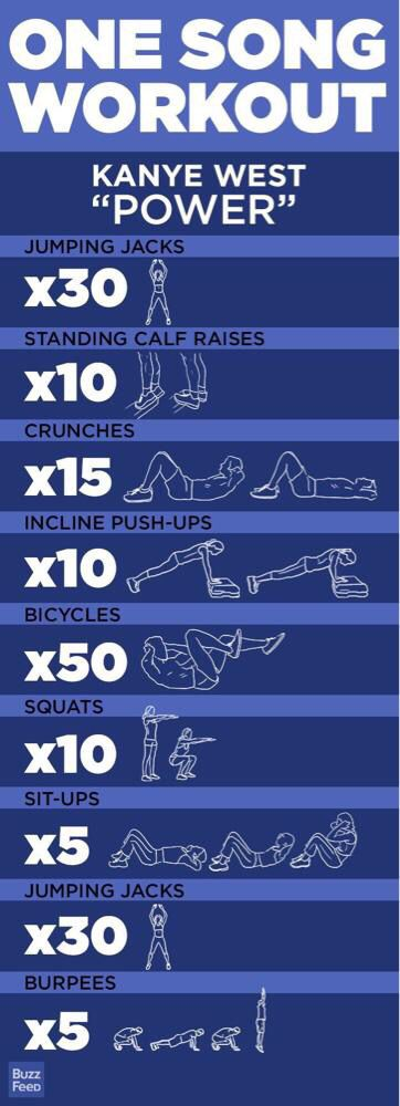 Idea by Britt Barnes on Get fit | One song workouts ...