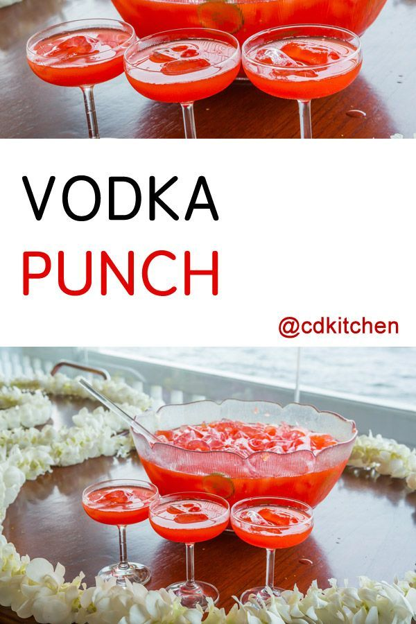 Vodka Punch - The combination of cranberry juice, lemonade and 7-UP makes this a very refreshing punch. It's always a hit with large groups and you can't beat how simple it is to make. Hint: freeze additional cranberry juice in ice cube trays to use in place of regular ice. | CDKitchen.com