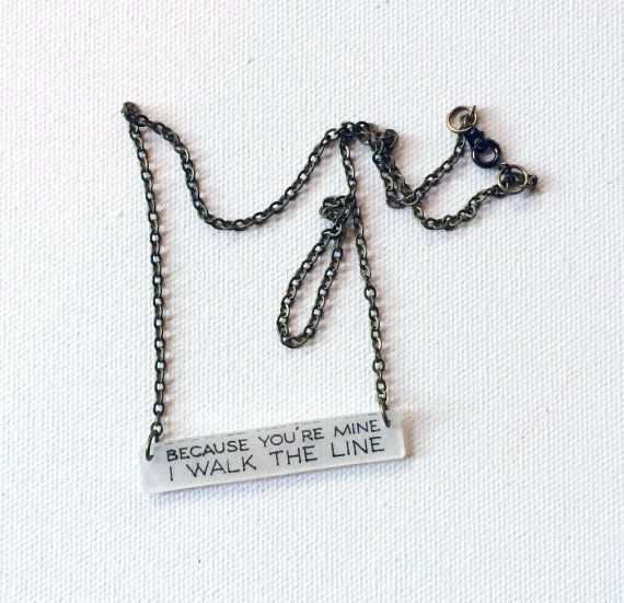Johnny Cash Jewelry // I Walk the Line by CaliforniaZephyr on Etsy