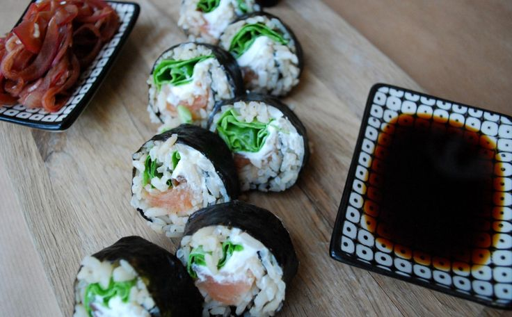 Sushi på råris