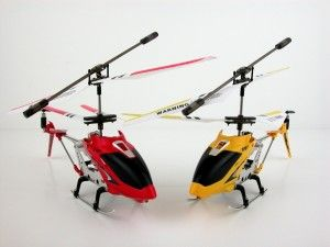 Syma Helicopter: S107G 3 Channel Mini Indoor Co-Axial Metal RC Helicopter w/ Built in Gyroscope (Red & Yellow) Set of 2 No more crashing, no more replacing parts, the GYRO has changed the Helicopter industry completely, making this RC Helicopter super easy to fly and maneuver. These helicopters are very durable and easy to fly compared to other RC helicopters. http://awsomegadgetsandtoysforgirlsandboys.com/syma-helicopter/ Syma Helicopter: S107G 3 Channel Mini Indoor Co-Axial Metal RC