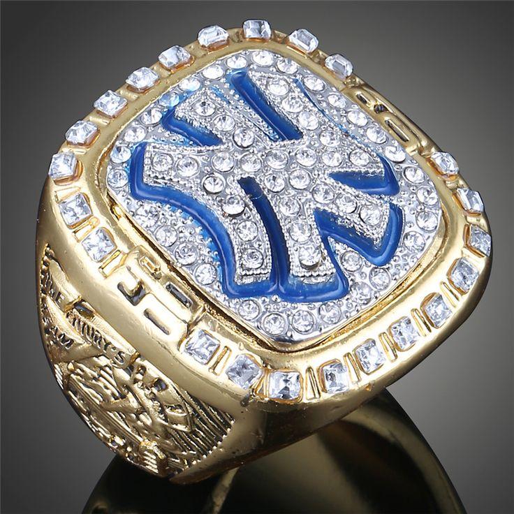 Fashion Classic Gold Plated Replica Sports Rings Retro 1999 Yankees Baseball Team Mariano Rivera Men Berloque Ring Gift J02078