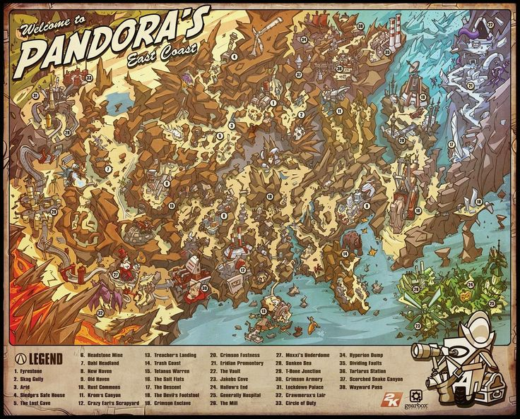 Maps of the Borderlands Pandora, Borderlands and The o'jays