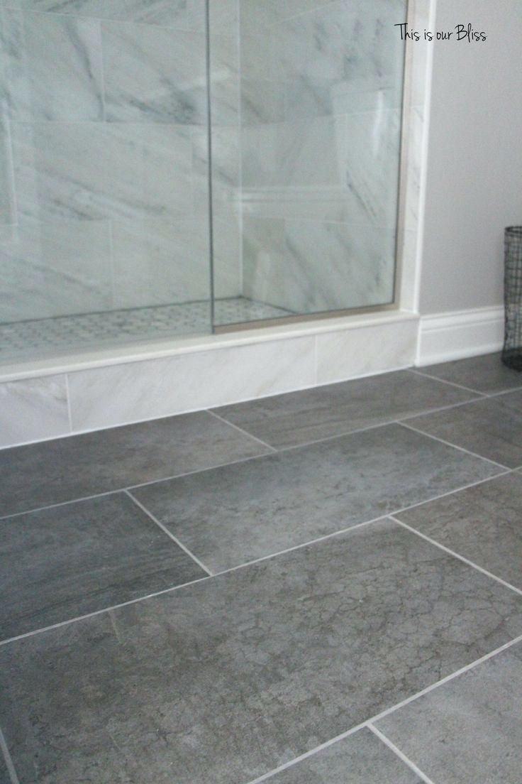 Tile Gray Floor Color Idea Like The Whtie Tiles In Shower