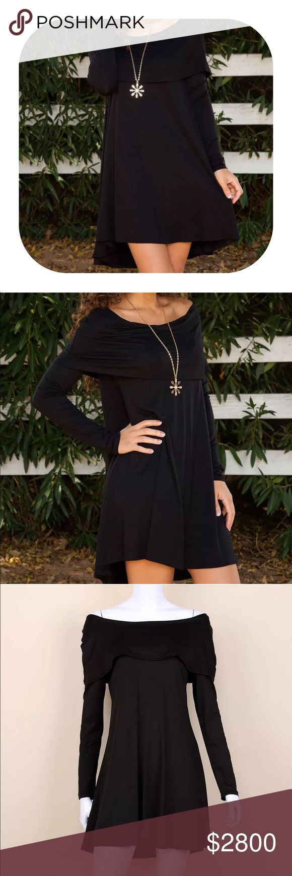 shoulder fold dress Material: milk wire.                                        Brand new with tag.                                                 Bundle discount 15%.                                              If you want more than two items let me know, I can make you a list with more discount. Dresses Midi