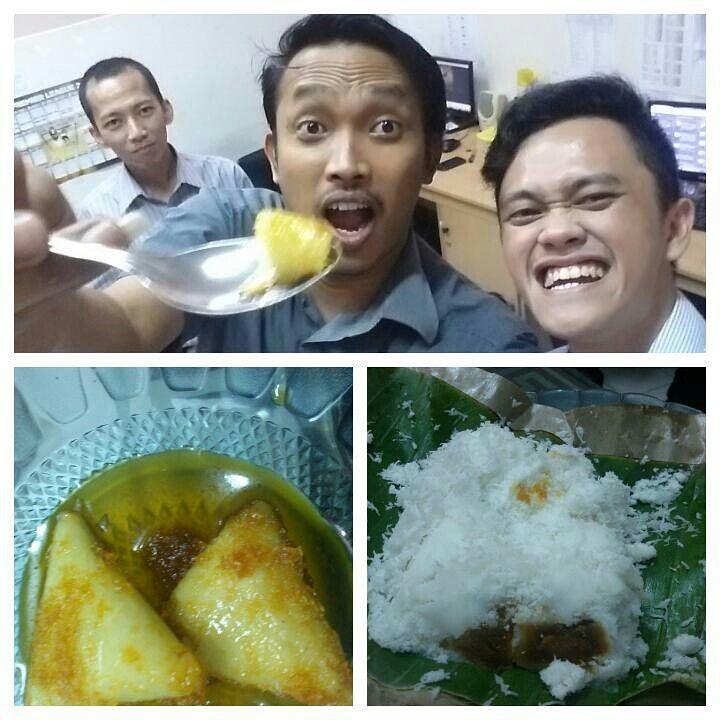 Menu malam ini di kantor: lupis dan putu medan. #kulinerindonesia #kuliner #jajananpasar
