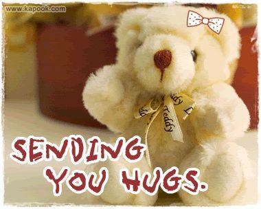 Sending you hugs cute friendship quote hug friend friendship quote teddy bear friend quote