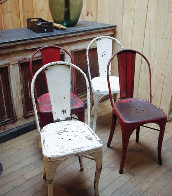 Anciennes chaises Tolix