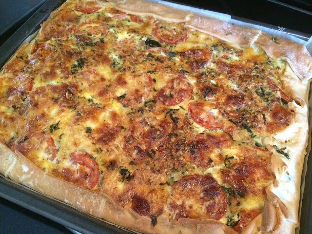 Lekker eten met Marlon: Grote hartige taart - quiche - met kip en Italiaan...