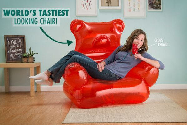 Every Dorm Room Needs An Inflatable Gummy Bear Chair