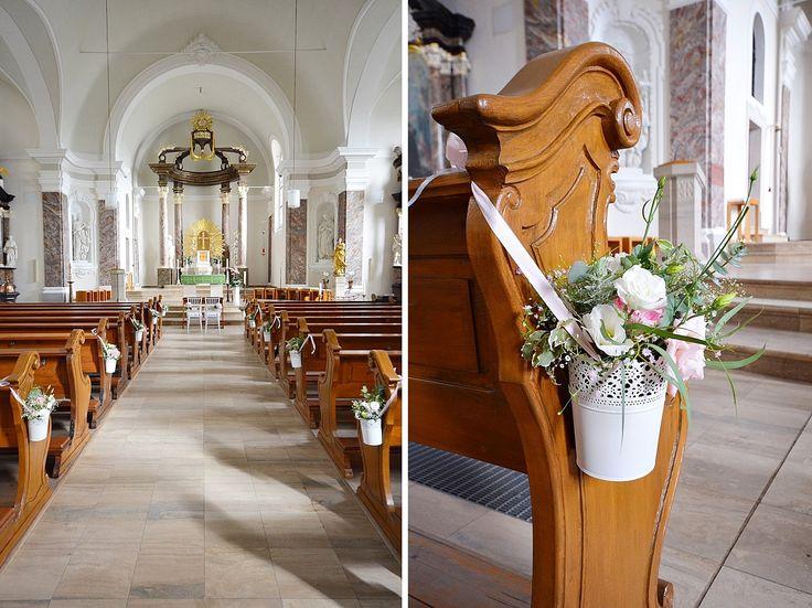Kirchendeko Vintage Blumen Kirchenbank