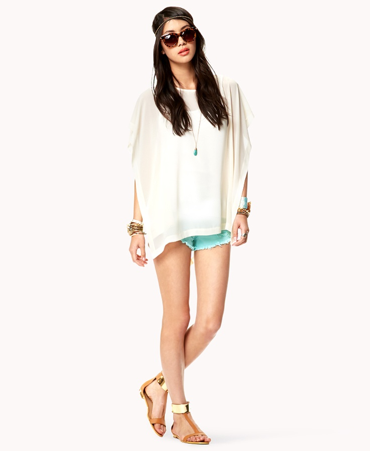 High-Low Flutter Sleeve Top | FOREVER21 Where would you rock this #Summer #OOTD #Trend
