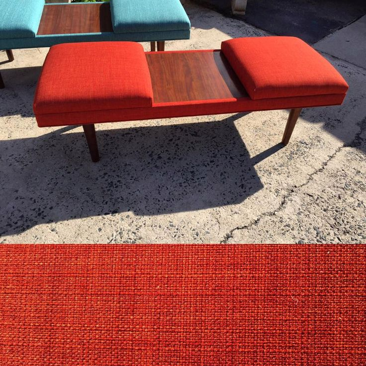 Coffee Table- Mid-Century Modern Upholstered Coffee Table with Teak Laminate Inlay~ Design 59 inc by Design59Furniture on Etsy https://www.etsy.com/listing/460005726/coffee-table-mid-century-modern