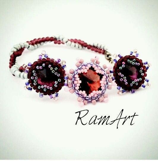 """Bransoletka """"Gwiazda"""" #bracelet #star #bead #beading"""