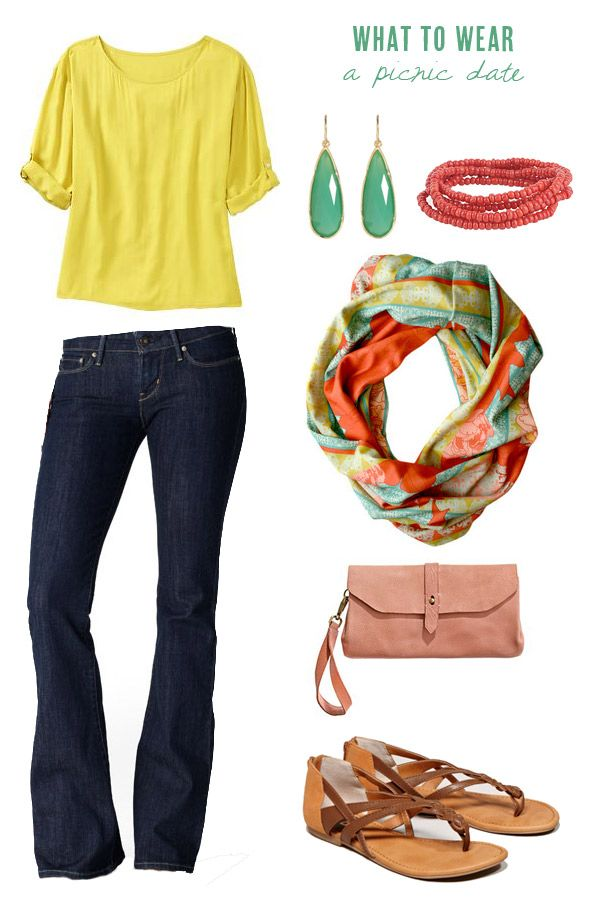 absolutely love this! great summer colors and fabulous scarf :)