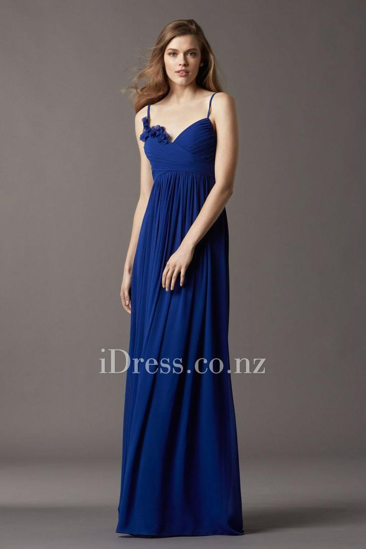 14 best blue bridesmaid dresses from idress images on strapless empire spaghette strap floor length chiffon bridesmaid dress from idress ombrellifo Image collections