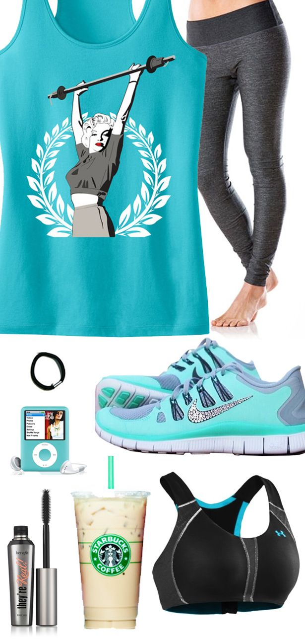 Classy Teal themed Workout Gear featuring a super cool #MarilynMonroe #Workout tank top from #NoBullWomanApparel. Tanks are $24.99 on Etsy, click here to buy www.etsy.com/listing/163540299/marilyn-monroe-lifting-workout-tank-top?ref=shop_home_active_11