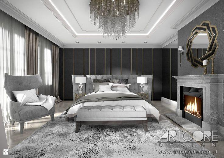 Luksusowa sypialnia - projekt wnętrza - zdjęcie od ArtCore Design - Sypialnia - Styl Klasyczny - ArtCore Design