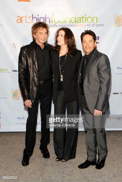 Barry Manilow, Monica Mancini and Dave Koz arrive at the Premier U.S.A. Arts High 25th Anniversary Celebration at the Ahmanson Theatre on April 17, 2010 in Los Angeles