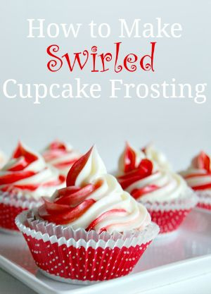 How to Make Swirled Cupcake Frosting - Tutorial #cupcake #frosting