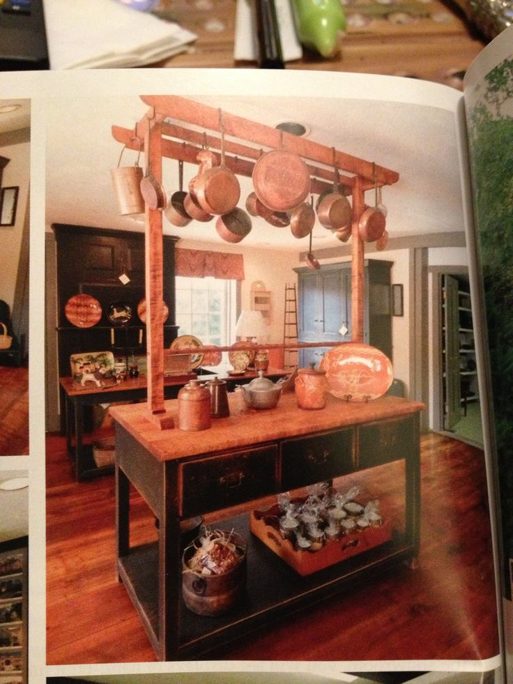 Beautiful Kitchen Island With Built In Pot Rack, By David T. Smith
