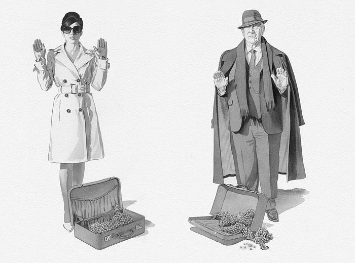 'Miss Grigio and Mr. Noir by Mash'