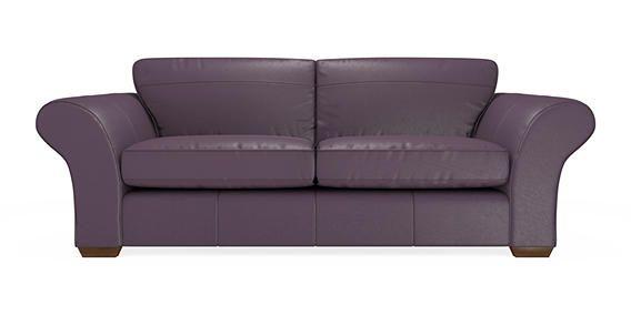 buy ledbury leather extra large sofa 4 seats columbia purple slim block standard from the. Black Bedroom Furniture Sets. Home Design Ideas