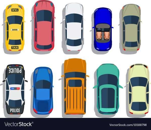 10 Car Icons Top View Car Icons Icon Car Top View