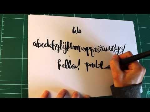 Hand Lettering Tutorial - Pentel Color Brush
