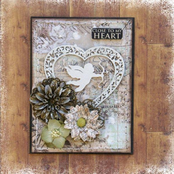 Scrapmatts chipboard, card, heart, close to my hear