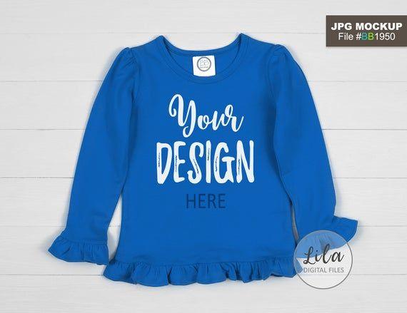 Download Download Free Mockup Photo Of Blank Royal Blue Kids Ruffle Long Psd Free Psd Mockups Templates Mockup Free Psd Free Psd Mockups Templates Shirt Mockup