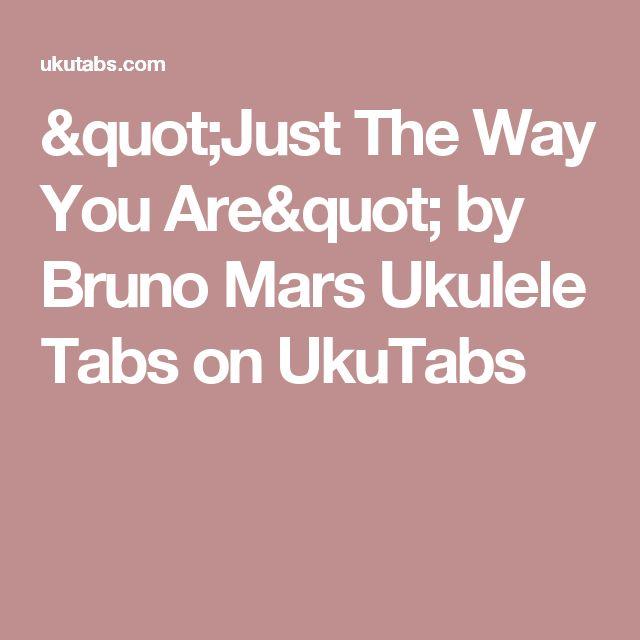 just the way you are ukulele chords pdf