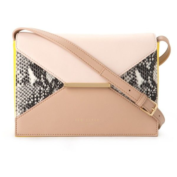 Ted Baker Tuileyy Colour Block Shoulder Bag (3.525 UYU) ❤ liked on Polyvore featuring bags, handbags, shoulder bags, sunflower, man shoulder bag, shoulder strap bags, shoulder strap handbags, leather hand bags and red shoulder bag