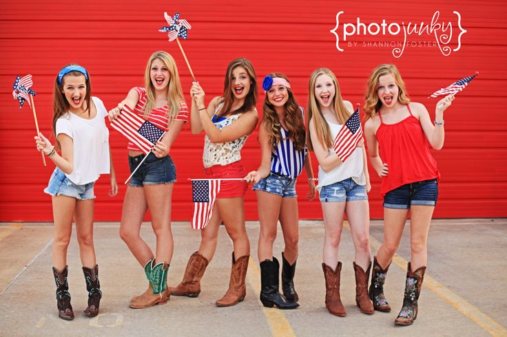 4th of July, Patriotic Photography, Americana, America, USA, Photojunky, teens, girls, large group