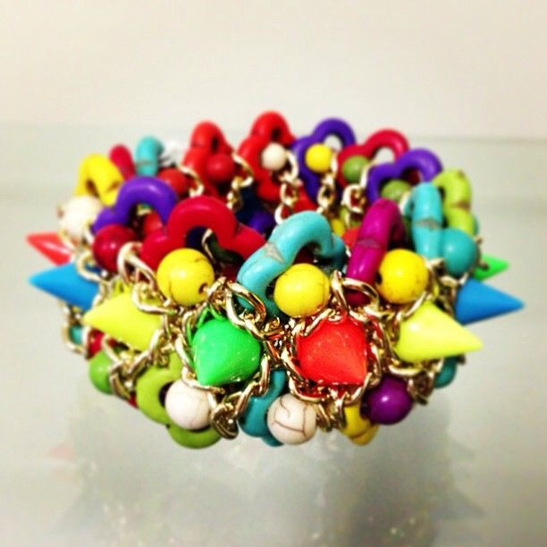 SO many colours! Coloured fluro bracelet from www.sugarsugar.net.au