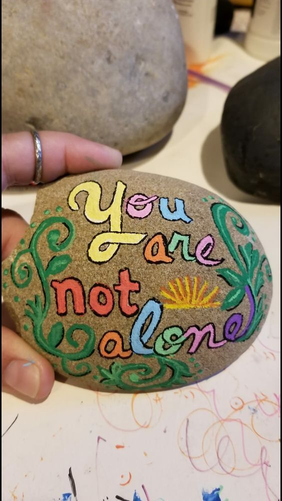 54 Awesome Cute Rock Painting Design Ideas