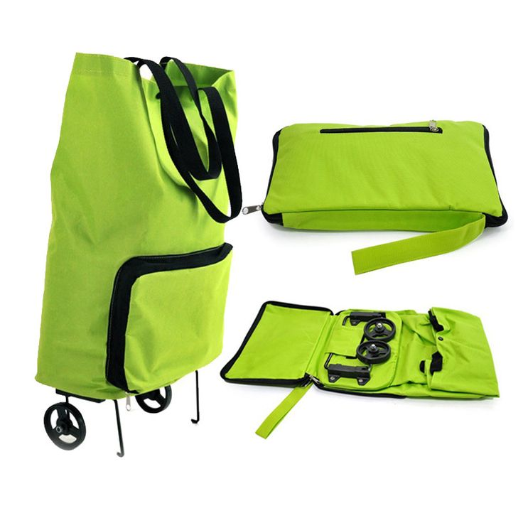 >> Click to Buy << New High quality Green portable Reusable Bags Oxford Cloth Rolling Folding extend Dual Wheel shopping cart trolley tote bag #Affiliate