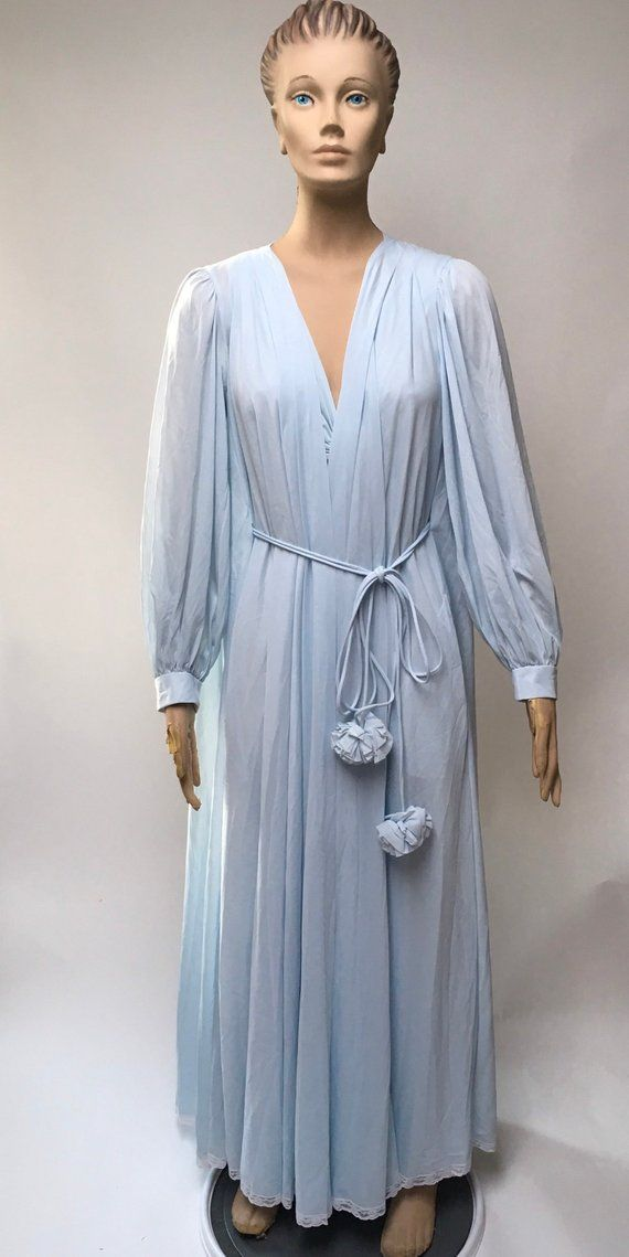7200d804ad2a6 Lucie Ann Pom Pom Robe Nightgown Set Claire Sandra Lingerie | eBay ...