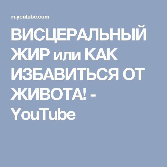 ВИСЦЕРАЛЬНЫЙ ЖИР или КАК ИЗБАВИТЬСЯ ОТ ЖИВОТА! - YouTube