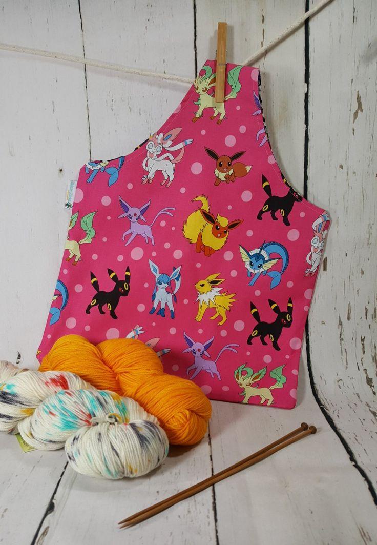 Pokemon Bag, Pink Pokemon, Knitting project bag, Knitting Tote Bag, Knitting…