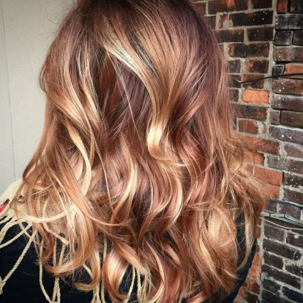 Caramel, Rose Gold, Mahogany, Copper, Color Melt & Balayage <3 <3 Redken Color Cut and Color by @jawnilundgren @salonwildroots by adele
